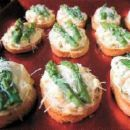 Hot Crab Meat Canapes