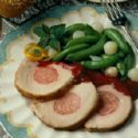 Roast Loin Of Pork with Apricot Glaze