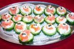 Salmon-Cucumber Rounds