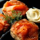Smoked Salmon with Brown Soda Bread
