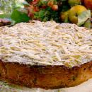 Apple, Prune and Armagnac Cake with Streusel Topping~