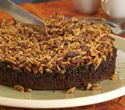 Chocolate Nut Upside-Down Cake
